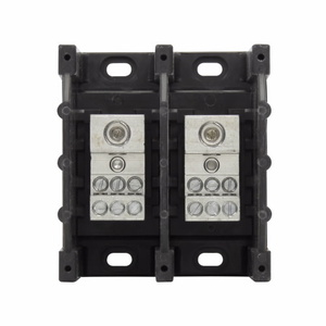 Eaton/Bussmann Series 16321-2 Power Distribution Block, 2-Pole, Single Primary - Multiple Secondary
