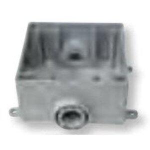 "Bizline 2FSC075 FSC Box, Weatherproof, Feed-Thru, 2-Gang, With Lugs, 3/4"""