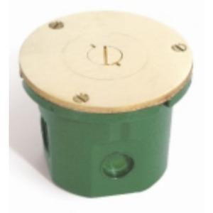 """Lew 812-DFBW/524 Round Floor Box, Diameter: 4"""", Depth: 3-1/8"""", Non-Metallic"""