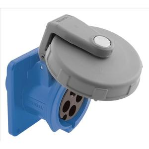 Hubbell-Kellems HBL460R9W Pin & Sleeve Receptacle, 60A, 3PH, 480V, 3P4W, Watertight, Blue