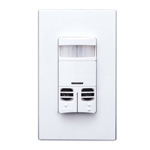 Leviton OSSMD-MDW Occupancy Sensor, Dual Relay, Multi-Tech, PIR/Ultraso