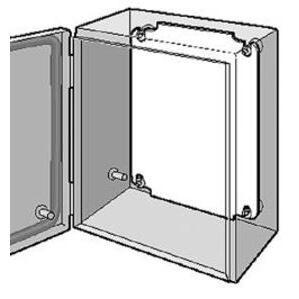 "Hoffman LP2520 Panel For Enclosure, Inline Series, 9.10"" x 7.13, Steel"