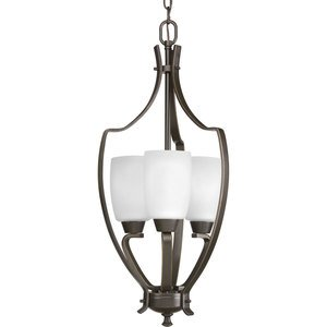 Progress Lighting P3509-20 Chandelier, 3 Light, 60W, Antique Bronze