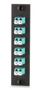 Signamax UFE-B-06LC-G 12-Fiber (6-Duplex) LC MM Adapter Plate, Aqua Adapters, Ceramic Sleeve