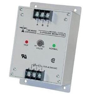 Time Mark B263 Power Monitor, 3-PH, 208/240VAC Input, 160-260VAC Range, 1.5W