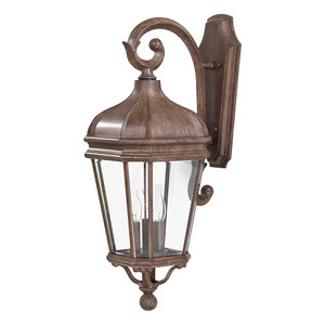 Minka Lighting 8692-61 Wall Lantern, Outdoor, 3-Light, 60W, Vintage Rust