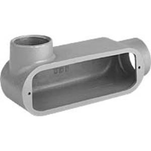 "Hubbell-Killark OLL-2 Conduit Body, Type: LL, Size: 3/4"", Duraloy 5 Series, Aluminum"