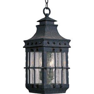Maxim Lighting 30088CDCF Outdoor Hanging Lantern, 3-Light, 40W, Country Forge