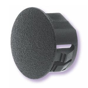 """Heyco 2617 Knockout Seal, Type Dome Plug, Diameter 0.375"""", Non-Metallic, Black"""