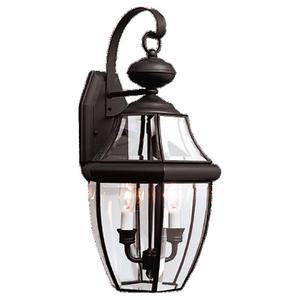 Sea Gull 8039-12 Wall Lantern, Outdoor, 2-Light, 40W, Black