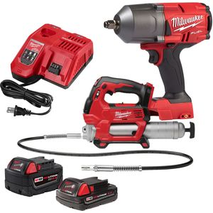Milwaukee 2767-22GG M18™ High Torque Impact Wrench W/ Grease Gun Kit