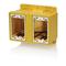FDBX2Y YEL PVC DBL GANG FD BOX