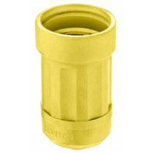 Leviton 6032-Y Boot, 20 Amp & 30 Amp, Yellow
