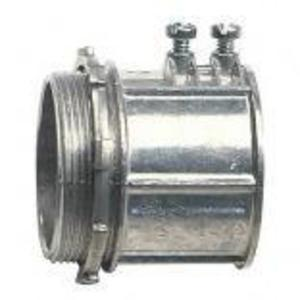 """Cooper Crouse-Hinds 708 Flex Connector, Type: Squeeze, Non-Insulated, 1/2"""", Malleable Iron"""
