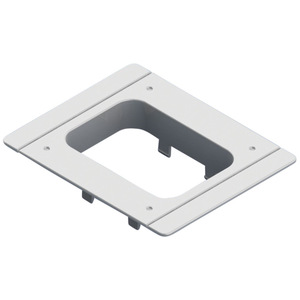 """nVent Caddy SES40PFP Flush Adapter Plate, (H) 4.6 x (W) 5.7 x (D) 1.3"""", Polycarbonate"""