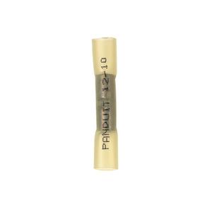 Panduit BSH10-E Heat Shrink Butt Connector, 12 - 10 AWG, Yellow, Pack of 20