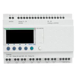 Square D SR3B261FU Relay, Zelio Logic, 26 I/O, 100-240VAC, Clock Display, 30-80mA