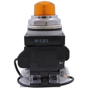 GE Industrial CR104PLT82M Pilot Light, Push to Test, 30mm, Amber, 120V AC/DC, 120V LED