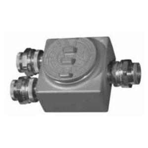 "Appleton GRUSE75 Conduit Outlet Box, Type: GRUSE, (3) 3/4"" Hubs, Malleable Iron"