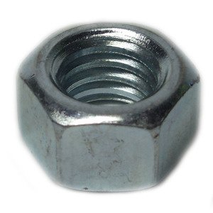 "Bizline R1420HN Hex Nut, 1/4"", Zinc Plated Steel, 100/PK"