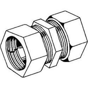 "Hubbell-Raco 1823 Rigid Compression Coupling, 3/4"", Malleable"