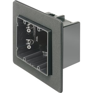 "Arlington F102F Switch Box, 2-Device, 3-1/2"" Deep, Non-Metallic"
