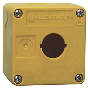 Allen-Bradley 800FD-1PY Enclosure, 1-Hole, Plastic, Yellow, 22.5mm, IP66, NEMA 4/4X/13