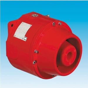 Cooper Crouse-Hinds DB1PULA024C3NNNR Explosionproof Horn, NEMA 4X, 24V DC, Red