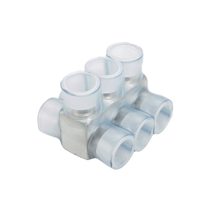 Panduit PCSB2/0-10-2Y Multi-Tap Connector, Double-Sided, Clear