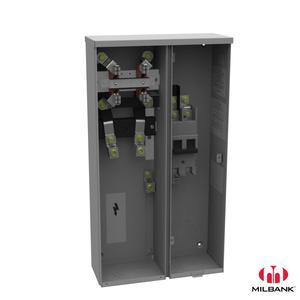 Milbank U3584-O-200 Ring Type Meter Socket, 200A, 240VAC