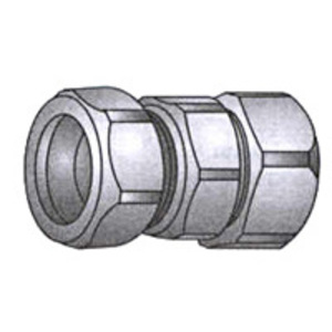 "OZ Gedney 30-050 Rigid Compression Coupling, 1/2"", Malleable"