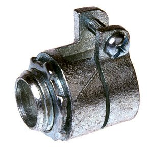 "Hubbell-Raco 2104 Flex Connector, Straight, Type: Squeeze, 1"", Malleable Iron"