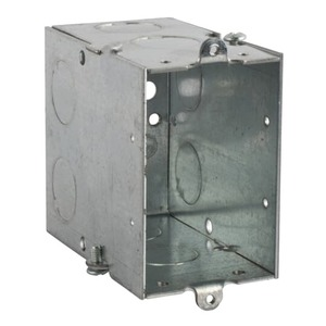 "Steel City CYLE-1/2 Gangable Switch Box, Steel, 3-1/2"" Deep"