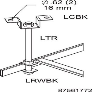 Hoffman LRWSBKB Rack To Runway Slip On Bracket Qty 20