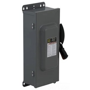 Square D HU363AWKEI Disconnect Switch, Non-Fusible, NEMA 12/3R, 100A, 3P, 600VAC, HD