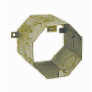 "Hubbell-Raco 278 4"" Concrete Ring, 3-1/2"" Deep, 1 - 3/4"" KOs, Steel"