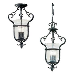 Sea Gull 5101-07 Pendant, 3 Light, 40W, Weathered Iron