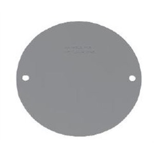 Cooper Crouse-Hinds TP7158 4 RND OUTLET BOX BLNK CVR PLTE GRAY