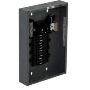 Square D QO324L125G Load Center, Main Lug Only, 125A, 240VAC, 3PH, 24/24, NEMA 1, 65kA