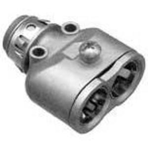 "Arlington 4040AST MC/AC Connector, 3/8"", Insulated, Duplex, Zinc Die Cast"
