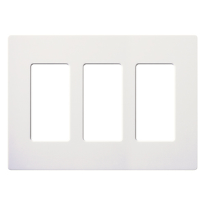 Lutron CW-3-WH Dimmer/Fan Control Wallplate, 3-Gang, White, Claro Series