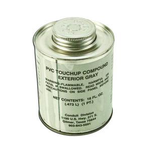 Plasti-Bond PBTOUCHUP-GRAY-PT PVC Gray Touch-Up - Pint Can, Brush Top