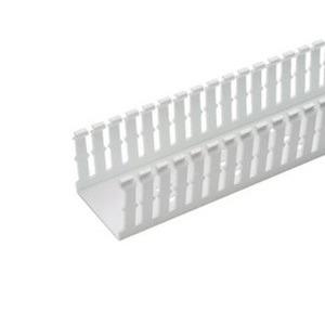 "Panduit F1.5X4WH6 Wiring Duct,  Narrow Slot, 1-1/2"" x 4"" x 6', PVC, White"