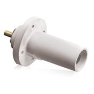 Leviton 17R21-W Male, Panel Receptacle, 90 Deg., 250-750 MCM,  Threaded Stud, Cam-Type, White