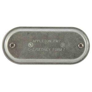 "Appleton 670 Conduit Body Cover, 2"", Form 7, Steel"
