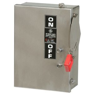 GE THN2261SSDC Safety Switch, HD, Non-Fusible, 2P, 2 Wire, 30A, 600VDC, NEMA 4X