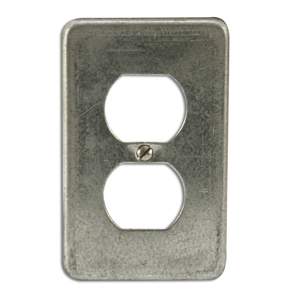 Appleton FSK-1DR Duplex Receptacle Cover, 1-Gang, Steel, Fits FS and FD Boxes
