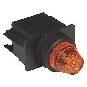 Allen-Bradley 800L-18L24A Indicator Light, LED, Amber, 24V AC/DC, NEMA 4/4X/13, 18mm
