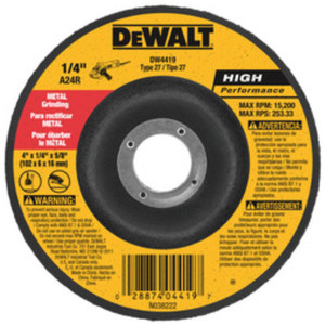 DEWALT DW4624 6INX1/4INX7/8IN METAL GEN PURP GRINDING WHL