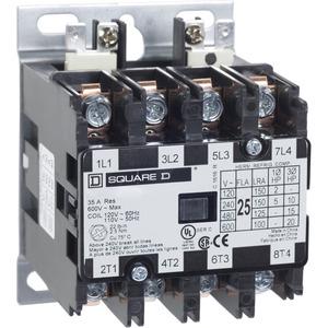 8910DPA24V02U1 CONTACTOR 600VAC 25AMP DP